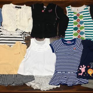 女の子 まとめ売り 夏物 90サイズ 34着+6足