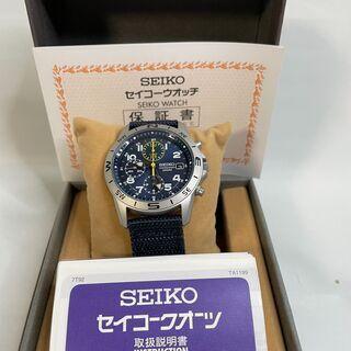★逆輸入セイコーミリタリー欧米モデルSEIKOクロノグラフ腕時計...