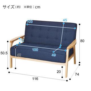 【ネット決済・配送可】ニトリ ソファ 2人掛け 布張り ネイビー
