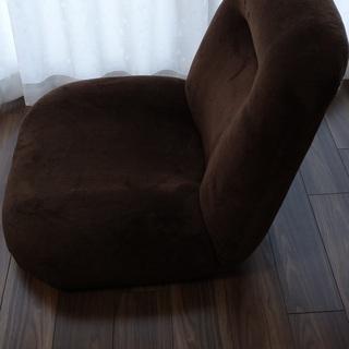 座椅子 ポケットコイル ワイド 42段ギア ソフト生地 ブラウン