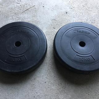 FIELDOOR バーベル用プレート 10キロ 2枚 筋ト…
