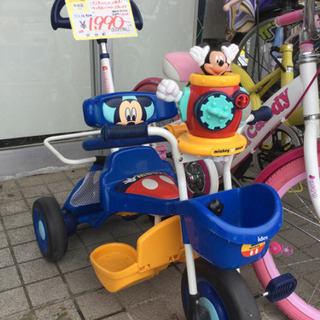 4/15  ミッキー三輪車 定価¥16,900 青 手持ち付きで...