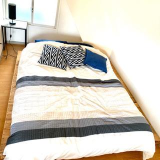 【値下げ】マットレス ダブル IKEA  寝具セット