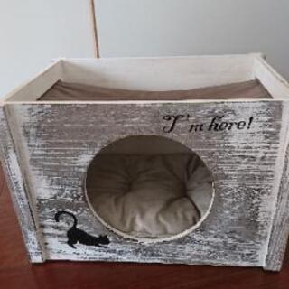 猫 ボックス型ベッド ハンモック付