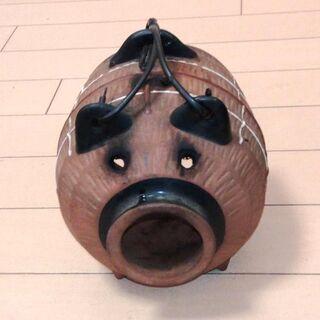 ◆取引条件有り◆【昭和中期・実用・インテリア】豚の蚊遣り 陶器製蚊取りブタ 蚊取り線香ホルダー(約φ15x14cm把手・突起部含まず) − 東京都