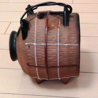 ◆取引条件有り◆【昭和中期・実用・インテリア】豚の蚊遣り 陶器製蚊取りブタ 蚊取り線香ホルダー(約φ15x14cm把手・突起部含まず) - 売ります・あげます