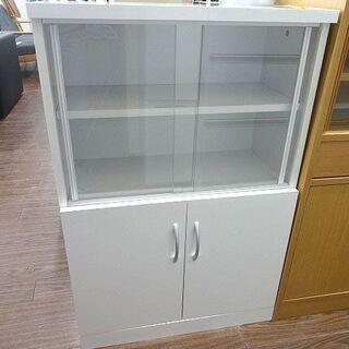 札幌 引き取り 単身用/一人暮らしサイズ 小型 食器棚 白 コン...
