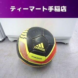 アディダス サッカーボール サイズ4 黒黄赤 ジュニア 小学生用...