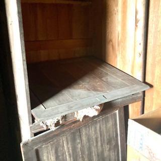 あげます タンス 木製 収納 昭和 レトロ