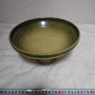 花器 大皿 緑 グラデーション 深緑