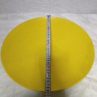 花器 大皿 黄色 イエロー 山吹色