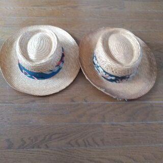 【ネット決済】麦わら帽子 2個(中古品 単品から販売可能)