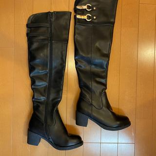 Leather ロングブーツ22.5センチ