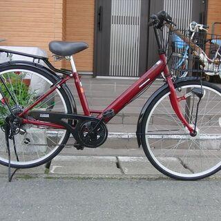 中古自転車販売 山形市 天童市 ママチャリ26インチ6段変速LE...