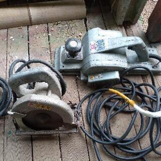 受取り人予定者様決定 古い電動カンナ&電動丸ノコをセットで