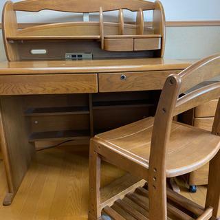 【ネット決済】学習机+椅子+サイドボックス