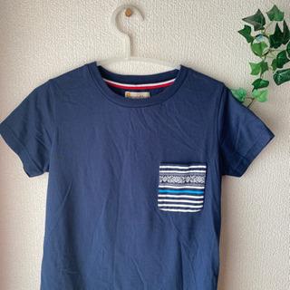 【レディースL】紺色 Tシャツ