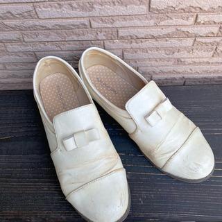 レディース靴/ホワイト