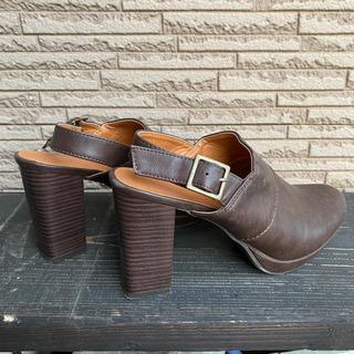 オシャレ靴/ヒール高めLサイズ
