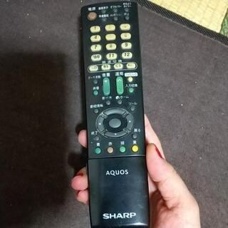 AQUOS SHARP専用のテレビリモコンの画像