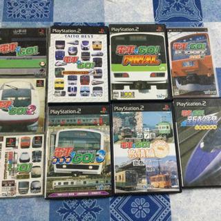 電車でGOソフト、コントローラー、PS2本体セット。