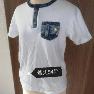 デニムデザインのポロシャツ
