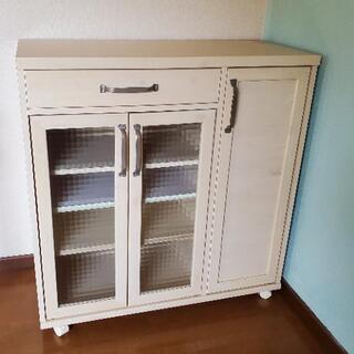 【ネット決済】《雑貨やさん風》キッチンカウンター収納