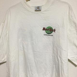 【ネット決済・配送可】ハードロックカフェTシャツ(白、コペンハーゲン)