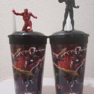 アベンジャーズ、スパイダーマンのカップ
