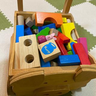 手作りカート付き積木の色々