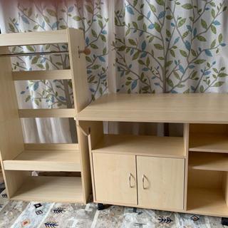 【ネット決済】キッチンカウンター テーブル キッズハンガー