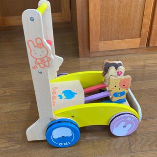 再値下げ! ミテミテ木製押し車⭐︎歩行練習⭐︎動物柄⭐︎