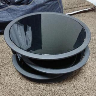回転式ガラステーブル (BLACK)