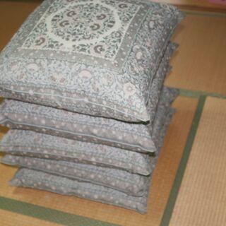 【未使用】羽毛座布団 5枚セット