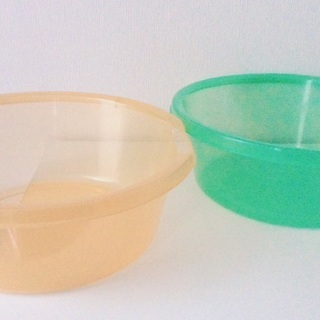 【お値下げ】プラスチック製の桶2個