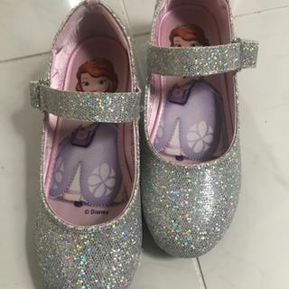 【ネット決済】フォーマルシューズ ラメシルバー靴 ソフィア 20...