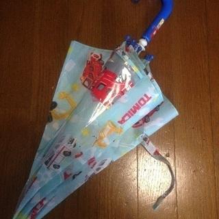 【良品】トミカ 傘 45cm 青 消防車