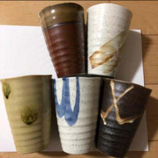 陶器ビアグラス 5個セット