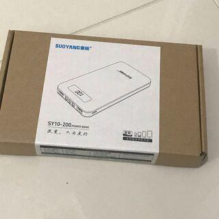 【新品】モバイルバッテリー 型番SY10-200