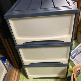 3段ボックス キャスター未使用
