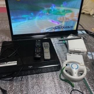 AQUOS 32インチテレビ ブルーレイレコーダー wii セット