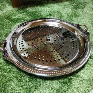 【ステンレス製 アンティークフルーツ皿・オードブル皿】中古品