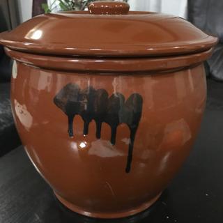 蓋付き 半胴かめ 保存陶器 8号 14.4L 未使用品