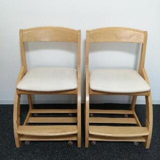 カリモク学習椅子 2脚