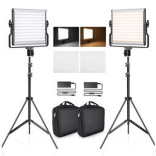 新品 FOSITAN 撮影用ライト 2パック 照明キット …
