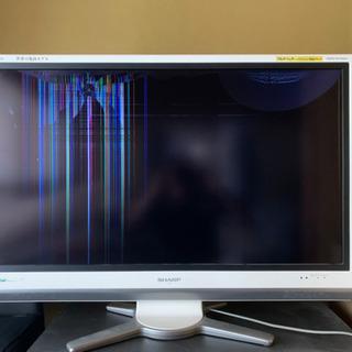 SHARP 32インチ テレビ 液晶割れ