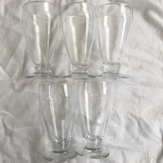 【差し上げます】ビールグラス5つ