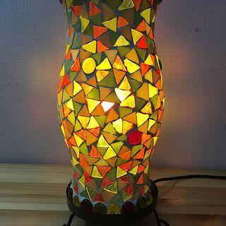 ガラス モザイク 暖色ランプ ライト イシグロ