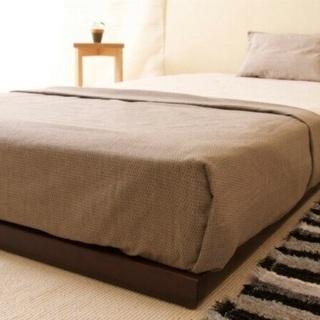 すのこ仕様天然木ベッド シングル