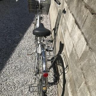 引き渡し予定者決定しました。 ママチャリ シルバー 27インチ ギア3段 - 自転車